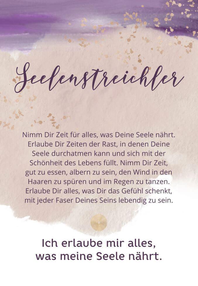 """Karte """"Seelenstreichler"""""""