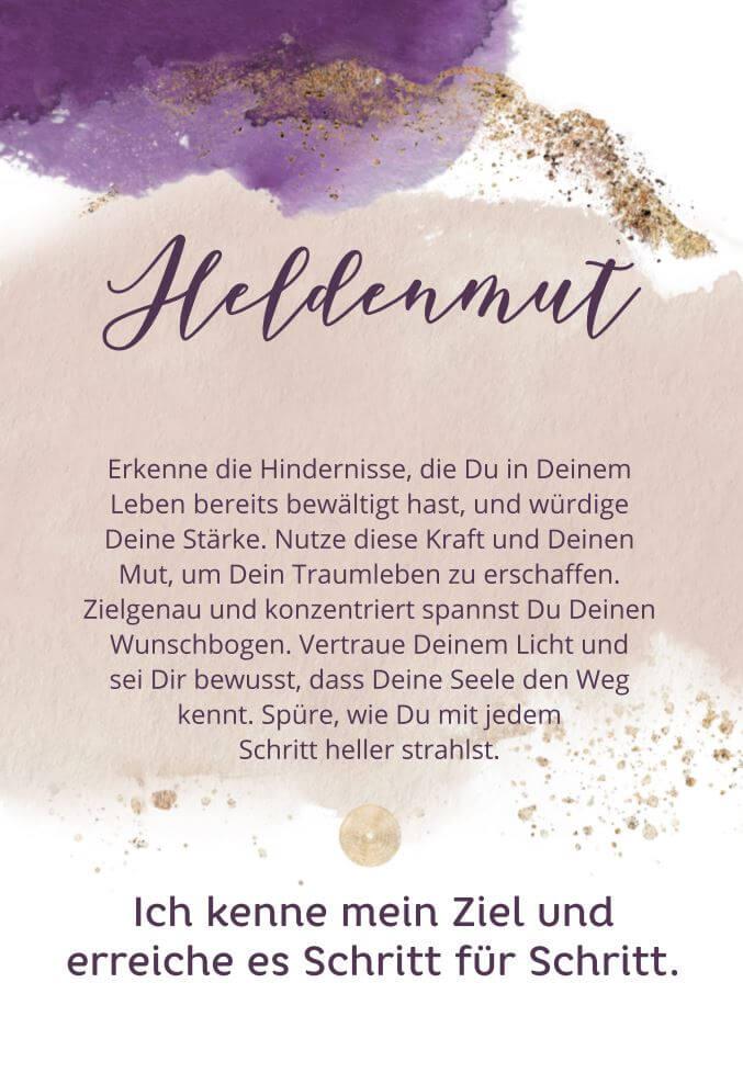 """Karte """"Heldenmut"""""""